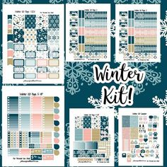 The first kit has been uploaded per your vote! It's available for the #erincondrenvertical and the #happyplanner . I will be re-uploading one of these as a full kit for four different planners depending on popularity throughout the week. '  In terms of voting, kit number 3 and 5 are neck-and-neck, so be sure to vote if you haven't already to push your favorite over the brink.