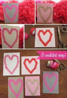 Dekortapasz Valentin napra  Dekortapasz Dekorella Shop  dekortapaszok.hu  Washi Tape Valentine Cards