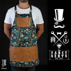 Fancy high quality printed-breathable apron exclusive designed for Bartenders and Mixologists. Cut from chest to mid-thigh, functional and very comfortable. Pockets are more than enough to help you through any situation. It gives you an amazing and outstanding style Colour: Tropical print