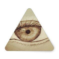 Eye Sketch Triangle Stickers