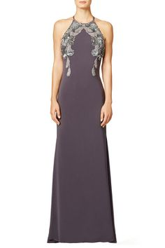Charcoal Gown by Badgley Mischka