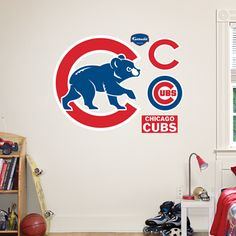 9ed9a7b78f3 Chicago Cubs  Alternate Logo - Giant Officially Licensed MLB Removable Wall  Decal