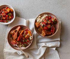 Indian summer: Anna Jones' recipes for tamarind curry and kachumber salad Veggie Recipes, Indian Food Recipes, Salad Recipes, Vegetarian Recipes, Cooking Recipes, Ethnic Recipes, Anna Jones Recipes, Tamarind Recipes, Essen
