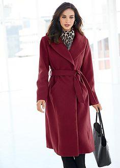 Longline Wrap Front Coat