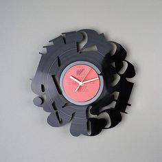 レコード壁時計「数字の文字盤」