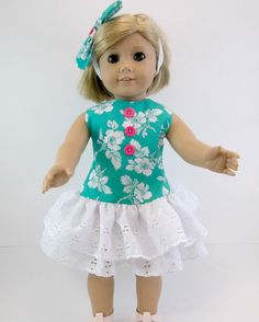 American Girl Doll Clothes 18 inch Doll Dress by snowflakeboutique, $18.00