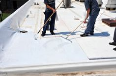 Liquid Roof Coatings For Roof Repair – Obvious Treatment Flat Roof Repair, Roof Leak Repair, Elastomeric Roof Coating, Liquid Roof, Rubber Roofing, Asphalt Roof Shingles, Commercial Roofing, Roof Styles, Trailer Remodel
