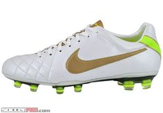 Nike Tiempo Legend Elite IV FG - White with Gold and Volt...$314.99