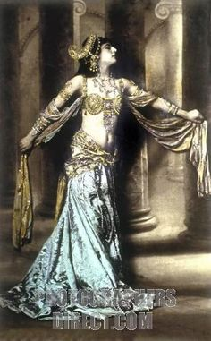 Mata Hari~The dance is a poem of which each movement is a word