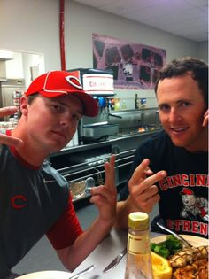 Drew Stubbs & Jay Bruce!  It will be weird not seeing The Gazelle in CF this year!