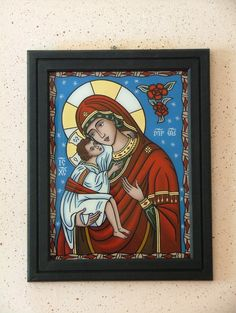 Stained Glass Church, Religious Icons, Whimsical Art, Folk, Angel, Painting, Classroom, Google, Virgin Mary