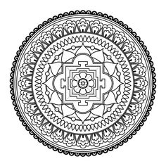 FIVE Mandala Colouring Pages  Printable Digital by KalyaniDesigns, $5.00