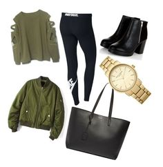"""""""✅"""" by kiiit-thy on Polyvore featuring NIKE, Yves Saint Laurent and Topshop"""