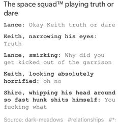 Shiro has officially been triggered - Shiro, Lance & Keith