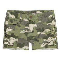 Camo Woven Shorts   Bottoms   New Arrivals   Shop Justice