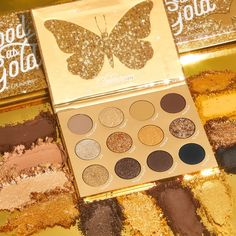 New Makeup! Colourpop Good As Gold Holiday Collection - BeautyVelle Golden Eyeshadow, Gold Eyeshadow Palette, Colourpop Eyeshadow, Eyeshadow Tips, Blending Eyeshadow, Gold Palette, Colourpop Cosmetics, Eyeshadow Looks, Makeup Eyeshadow