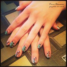 Цветы #nail #nails #ногти #маникюр #рисунок #nailart #art #naildesign #design #nailstyle #style