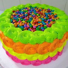 Tips to visit the their personal gifts youth little girls and teens will actually like the last few months. Neon Birthday Cakes, Bolo Neon, Neon Cakes, Glow In Dark Party, Rainbow Food, Birthday Gifts For Teens, Neon Party, Candy Buffet, Creative Cakes