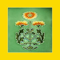 """Art Nouveau Tile by Rhodes (1907-8). Courtesy Robert Smith, from his book """"Art Nouveau Tiles with Style"""". Photoshopped by Catherine Hart."""