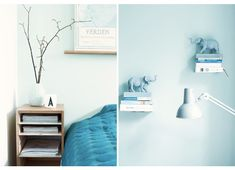 Lys Aqua-farge Floating Nightstand, Aqua, Colours, Modern, Table, Furniture, Home Decor, Rome, Trendy Tree