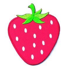 PINK-STRAWBERRY-CUTE-GIRL-KID-SCHOOL-SEW-IRON-ON-PATCH-T-SHIRT-DRESS-JEAN-BAG