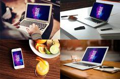 6 MacBooks and Phones Mockups