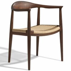 "Hans Wegner The Chair - Inspired by colonial furniture design, the Hans Wegner The Chair"" gives your home a subtle rustic charm while maintaining its contemporary design ."