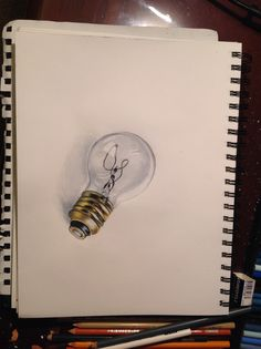 Ampoule 3D Office Supplies, Notebook, 3d, Light Bulb, Drawings, Notebooks, Stationery, Exercise Book, The Notebook