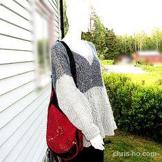 Myk og luftig genser i grånyanser