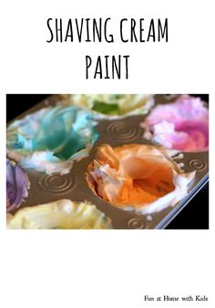Shaving Cream Paint from Fun at Home with Kids