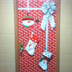 My dorm door! SOOOOO ready for Christmas to come!