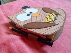 Chichi's Scrap: Porta post-it gufoso 3d Craft, Craft Ideas, Big Shot, Mixed Media, Xmas, Bullet Journal, Mamma, Paper, Projects