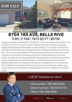 ONE OF THE BEST HOMES YOU'LL EVER GET TO OWN IN THE BELLE RIVE NEIGHBOURHOOD FOR ONLY $575000! http://mvnt.us/m282066  Call us JP Dumlao @ 780-995-0540 for more information.  Search all homes for sale on the Edmonton MLS by visiting http://ift.tt/1F48U4I  #belleriveedmonton #edmontonhomesforsale #edmontonrealestate #edmontonmlslistings | Visit us at FindMyHouse.ca | Powered by Team Leading Edge