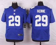 York Giants #29 Nat Berhe Royal Blue Team Color NFL Elite Jersey