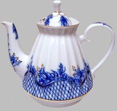 Russian Imperial - Blue Rhapsody Teapot Russian Imperial Porcelain Tea Ware