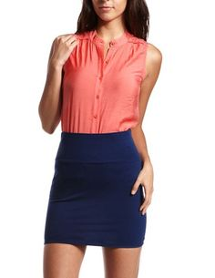 Coral Lace Inset Tank: Charlotte Russe