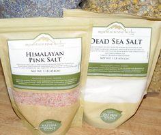 Himalayan Pink Salt and Dead Sea Salt bath soak