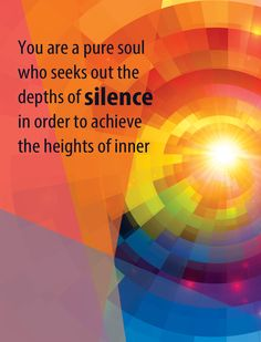 Silence is the entrance into the deepest experience of Being.  – Robert Sardelo