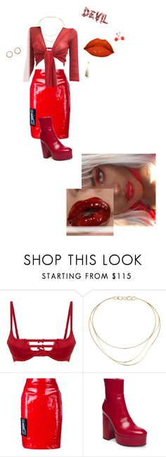 """Devil's Monochrome"" by angels-fool ❤ liked on Polyvore featuring Agent Provocateur, Tiffany & Co., Ashley Williams, Steve Madden and aesthetic"