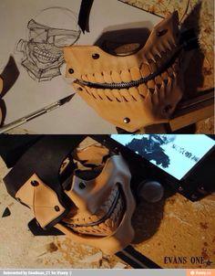 Tokyo Ghoul - making Kaneki's mask.
