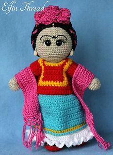 Ravelry: Frida Kahlo Doll pattern by Elfin Thread