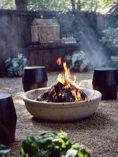concrete Backyard Fire Pit