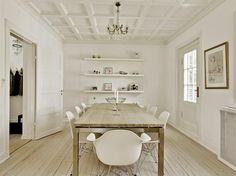 table and shelves  house hunting: {charlottenlund} denmark