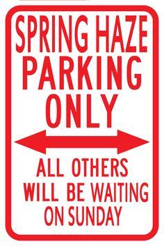Tori Amos parking sign