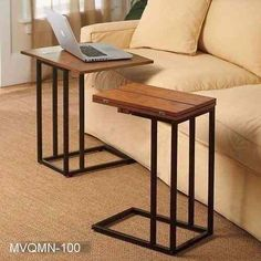Expanding Tray Table (like this but looking for a bed table) Couch Tray, Couch Table, Sofa Side Table, Recliner Table, Table Desk, Side Tables, Steel Furniture, Diy Furniture, Furniture Design