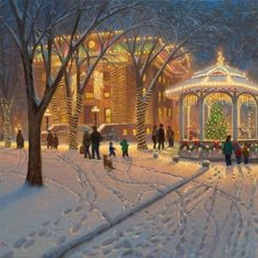 Christmas At The Courthouse - Prescott, Arizona A Thomas Kinkade painting based off of my town! I never knew, but i swear i have seen this in my grandmas house before even considering the city for college State Of Arizona, Arizona Travel, Arizona Usa, Sedona Arizona, Illustration Noel, Illustrations, Christmas Scenes, Christmas Art, Christmas Lights