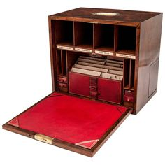 Burr Walnut Stationery Box at Campaign Desk, Campaign Furniture, Antique Desk, Antique Boxes, Wood Projects, Woodworking Projects, Bandsaw Projects, Office Furniture, Cool Furniture