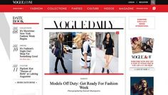 Vogue USA - Web design inspiration from siteInspire