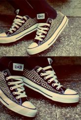 Off-white Active - Studded Converse Shoes | UsTrendy