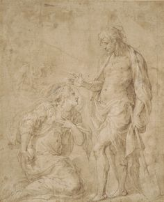 Noli Me Tangere, Pen And Wash, Grisaille, Inspiring Art, Fresco, Catholic, Christ, England, Ink
